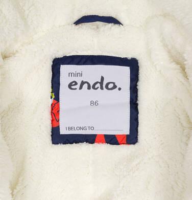 Endo - Kombinezon zimowy dla małego dziecka, granatowy, w rude liski N92A007_1,5