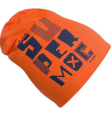 Endo - Czapka dla chłopca, super moc, pomarańczowa C03R018_1,1