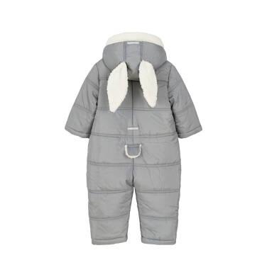 Endo - Kombinezon zimowy dla małego dziecka, Króliczek mamusi, szary, z uszkami i ogonkiem N92A008_1