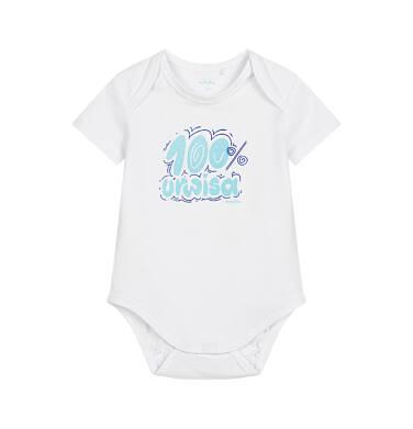 Endo - Body z krótkim rękawem dla dziecka do 2 lat, białe N03M027_1
