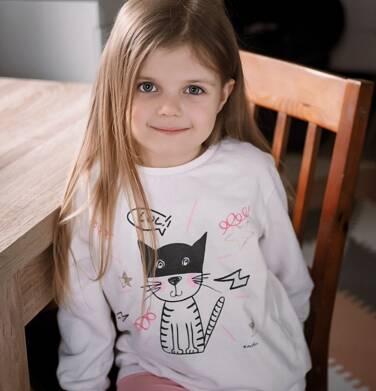 Endo - Bluza dla dziewczynki, z kotem, porcelanowa, 2-8 lat D03C020_1 11
