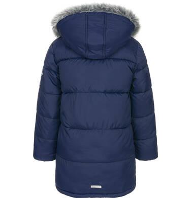 Endo - Zimowa kurtka dla chłopca 3-8 lat, Polarny świat, długa, ciemnogranatowa C92A006_1