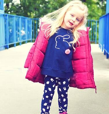 Endo - Bluza dla dziewczynki, z aplikacją 3D, granatowa, 2-8 lat D03C021_1,2