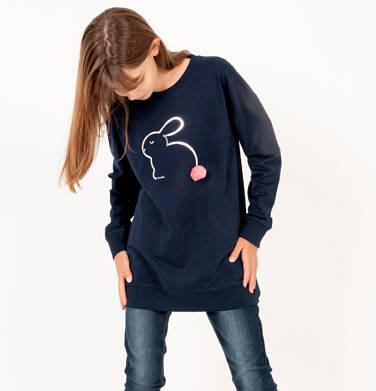 Endo - Bluza dla dziewczynki, z aplikacją 3D, granatowa, 2-8 lat D03C021_1 5