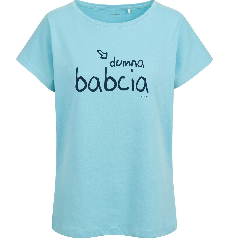 Endo - T-shirt damski, dumna babcia, niebieski Y03G013_1
