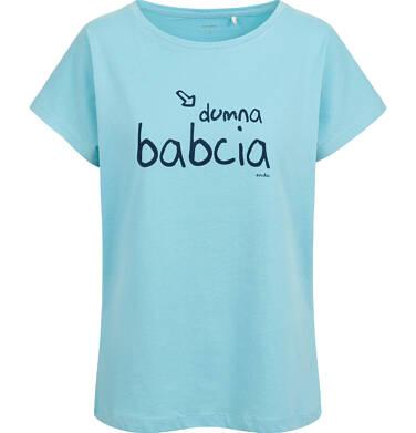 Endo - T-shirt damski, dumna babcia, niebieski Y03G013_1,1