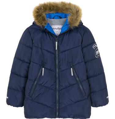Endo - Zimowa kurtka dla chłopca 9-13 lat, Charakter doskonały, ciemnogranatowa, odblask z misiem C92A507_2