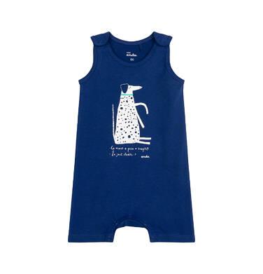 Endo - Rampers dla dziecka do 2 lat, z psem w kropki, niebieski N03N020_1 24