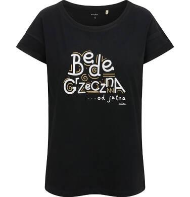 Endo - T-shirt damski, będę grzeczna od jutra, czarny Y03G014_1 4