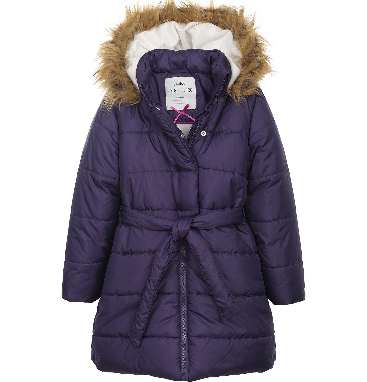 Endo - Płaszcz zimowy dla dziewczynki 3-8 lat D82A008_1