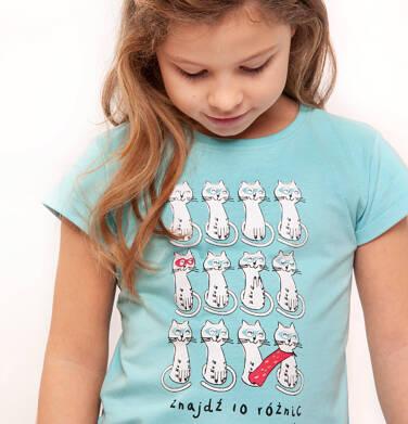 T-shirt z krótkim rękawem dla dziewczynki 9-13 lat D91G567_1