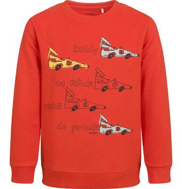 Endo - Bluza dla chłopca, z samochodami, czerwona, 2-8 lat C04C059_1 5