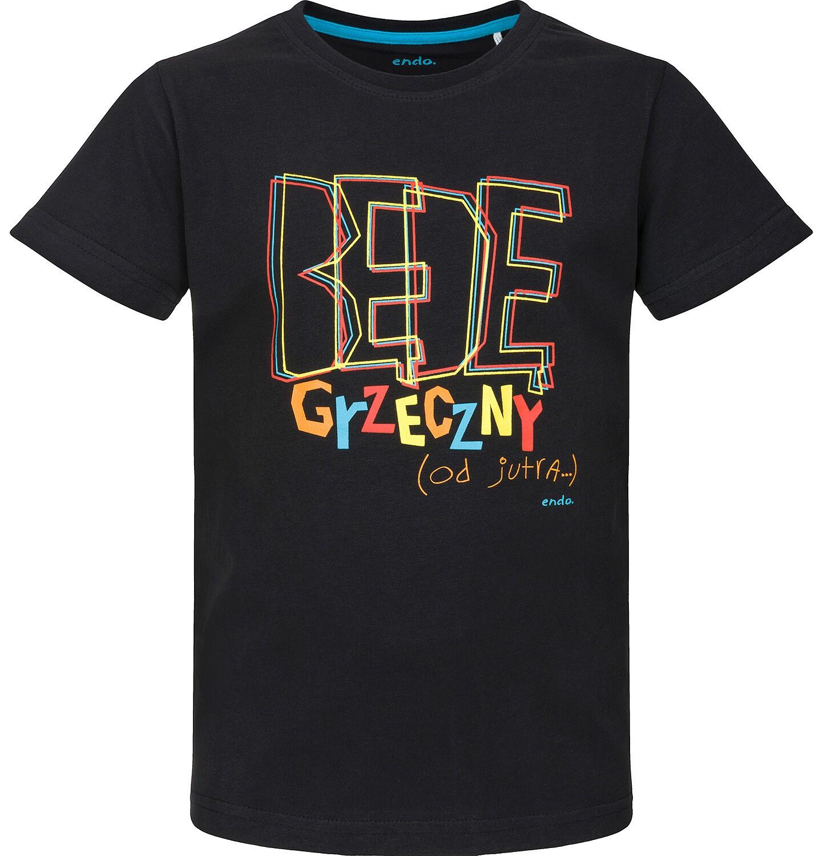 Endo - T-shirt z krótkim rękawem dla chłopca 9-13 lat C91G675_1