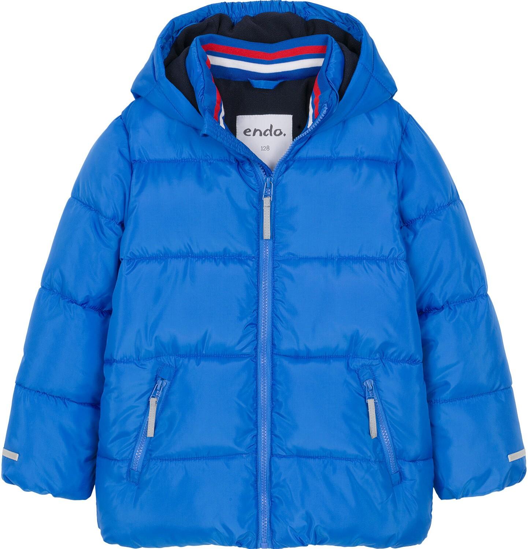 Endo - Zimowa kurtka dla chłopca 3-8 lat, Mam Cię na oku, niebieska, ciepła C92A009_1