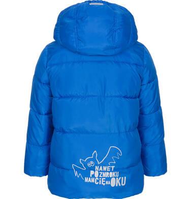 Endo - Zimowa kurtka dla chłopca 3-8 lat, Mam Cię na oku, niebieska C92A009_1,2