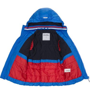 Endo - Zimowa kurtka dla chłopca 3-8 lat, Mam Cię na oku, niebieska, ciepła C92A009_1,4