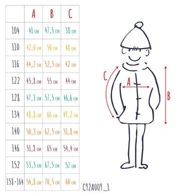 Endo - Zimowa kurtka dla chłopca 3-8 lat, Mam Cię na oku, niebieska C92A009_1,3