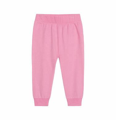 Spodnie dla dziecka do 2 lat, z kotem, różowe N03K027_1