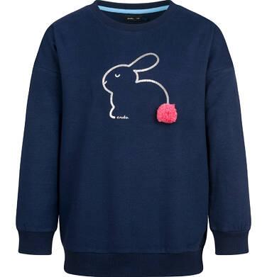 Endo - Bluza dla dziewczynki, z aplikacją 3D, granatowa, 9-13 lat D03C521_1 14