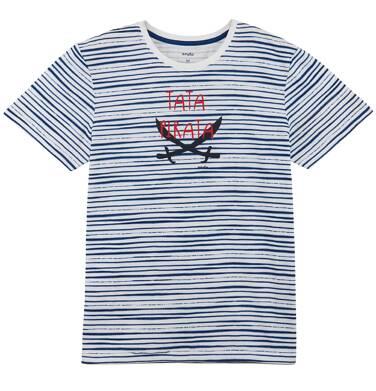 Endo - T-shirt w paski męski Q61G013_1