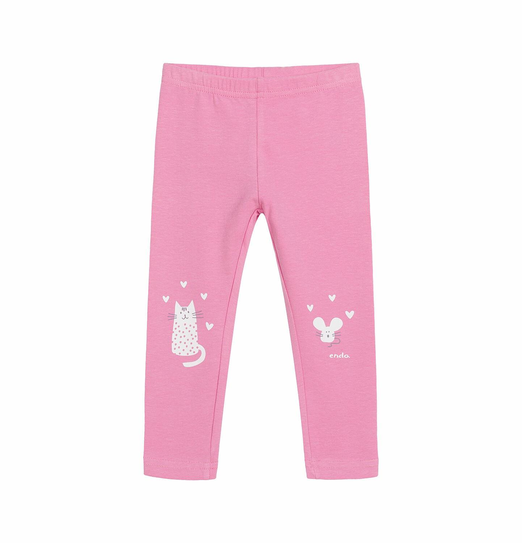 Endo - Legginsy dla dziecka do 2 lat, myszka mamusi, różowe N03K028_1