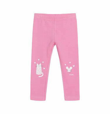 Legginsy dla dziecka do 2 lat, myszka mamusi, różowe N03K028_1