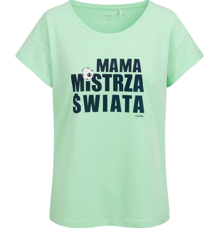 Endo - T-shirt damski, mama mistrza świata, zielony Y03G016_1
