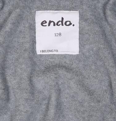 Endo - Zimowa kurtka dla chłopca 3-8 lat, granatowa, odblaskowe elementy, polarowa podszewka, ciepła C92A011_1,6