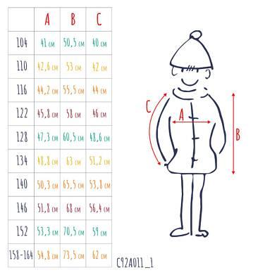 Endo - Zimowa kurtka dla chłopca 3-8 lat, granatowa, odblaskowe elementy, polarowa podszewka, ciepła C92A011_1,3