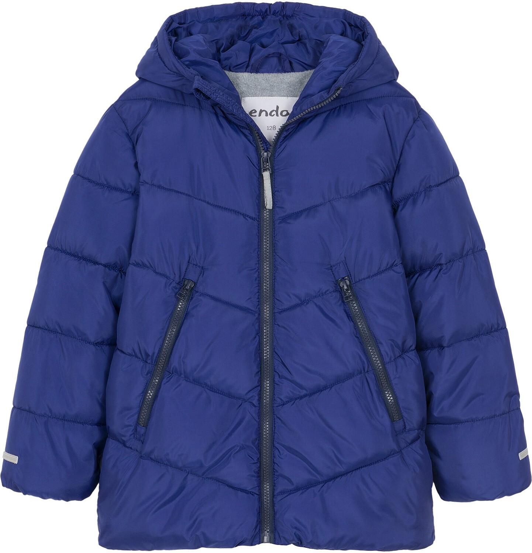 Endo - Zimowa kurtka dla chłopca 9-13 lat, granatowa, odblaskowe elementy, polarowa podszewka C92A511_1