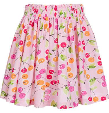 Endo - Spódnica, deseń w wisienki, różowa, 2-8 lat D03J025_1