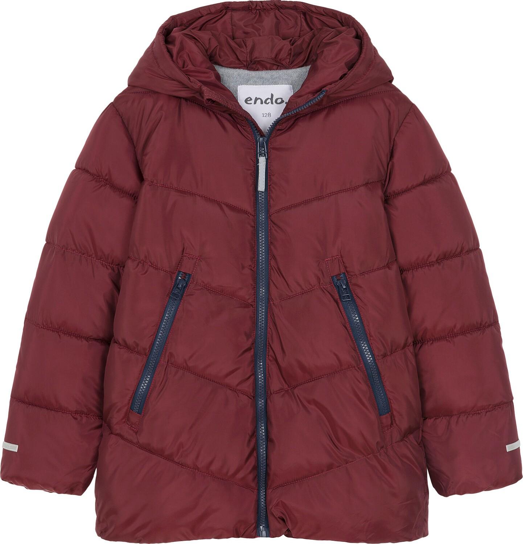 Endo - Zimowa kurtka dla chłopca 3-8 lat, ciemnowiśniowa, odblaskowe elementy, polarowa podszewka, ciepła C92A011_2