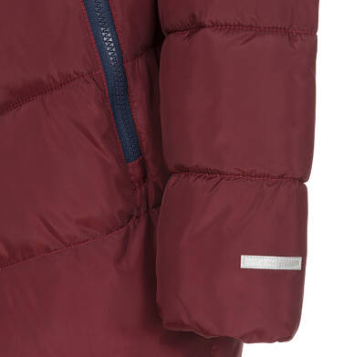 Endo - Zimowa kurtka dla chłopca 3-8 lat, ciemnowiśniowa, odblaskowe elementy, polarowa podszewka, ciepła C92A011_2,6