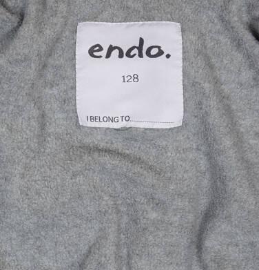 Endo - Zimowa kurtka dla chłopca 3-8 lat, ciemnowiśniowa, odblaskowe elementy, polarowa podszewka, ciepła C92A011_2,5