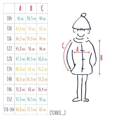 Endo - Zimowa kurtka dla chłopca 3-8 lat, ciemnowiśniowa, odblaskowe elementy, polarowa podszewka, ciepła C92A011_2,3