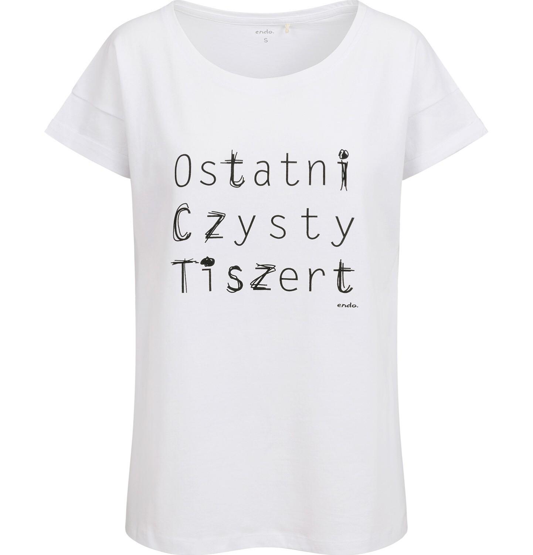 Endo - T-shirt damski, ostatni czysty, biały Y03G019_1