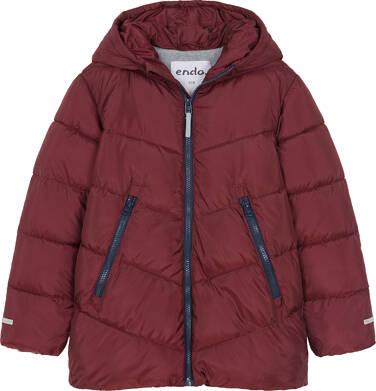 Endo - Zimowa kurtka dla chłopca 9-13 lat, ciemnowiśniowa, odblaskowe elementy, polarowa podszewka C92A511_2