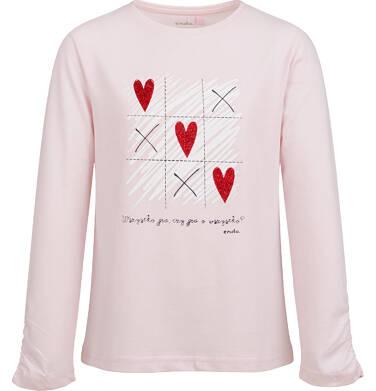 Endo - Bluzka z długim rękawem dla dziewczynki, serce i krzyżyk, różowa, 2-8 lat D03G192_1 15