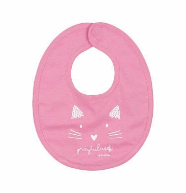 Endo - Śliniak dla dziecka, kot - przytulasek, różowy N03M014_1 14