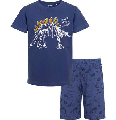 Endo - Piżama z krótkim rękawem dla chłopca z dinozaurem, ciemnoniebieska, 9-13 lat C05V019_1 2