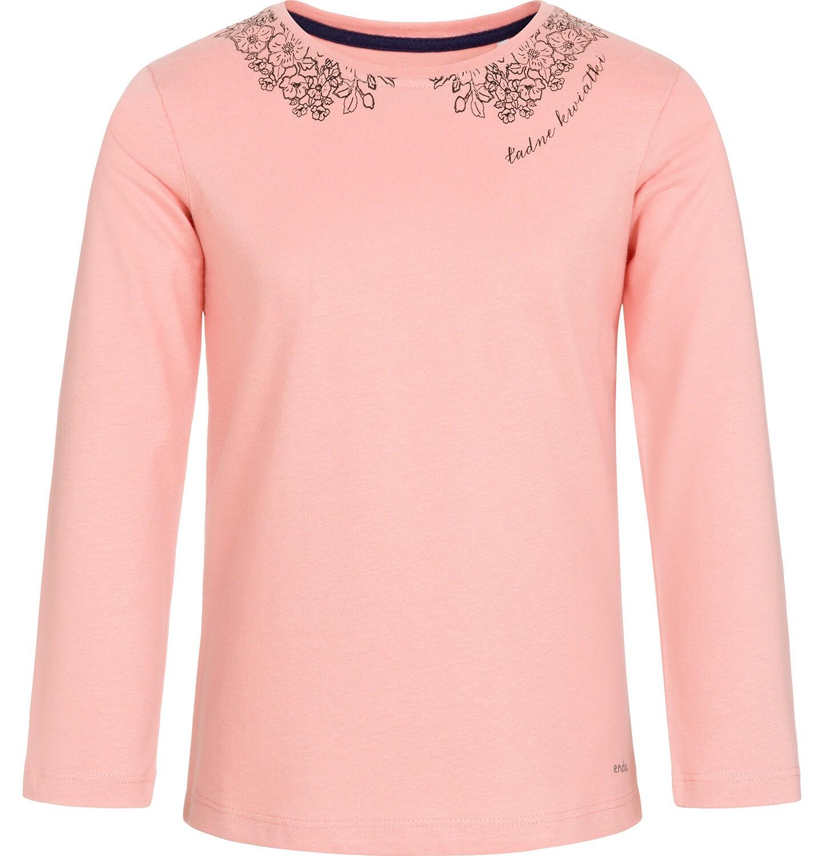 Endo - Bluzka z długim rękawem dla dziewczynki, ozdobny kołnierzyk, różowa, 9-13 lat D92G503_2