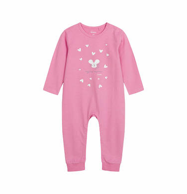 Endo - Pajac dla dziecka do 2 lat, myszka mamusi, różowy N03N006_1