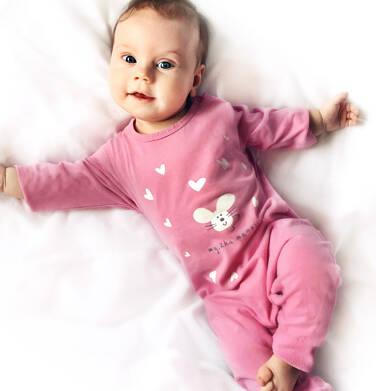 Endo - Pajac dla dziecka do 2 lat, myszka mamusi, różowy N03N006_1 12