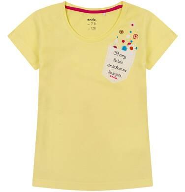 Endo - Bluzka z krótkim rękawem dla dziewczynki 4-8 lat D71G162_2