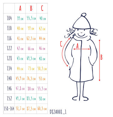 Endo - Płaszcz zimowy dla dziewczynki 9-13 lat D82A508_1