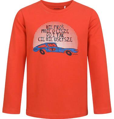 Endo - T-shirt z długim rękawem dla chłopca, z samochodem, czerwony, 2-8 lat C04G187_1 31