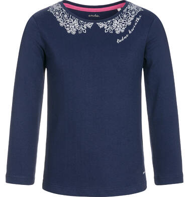 Endo - Bluzka z długim rękawem dla dziewczynki 3-8 lat D92G003_3