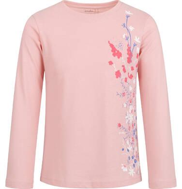 Endo - Bluzka z długim rękawem dla dziewczynki, z kwiatowym nadrukiem, różowa, 2-8 lat D03G199_1 147