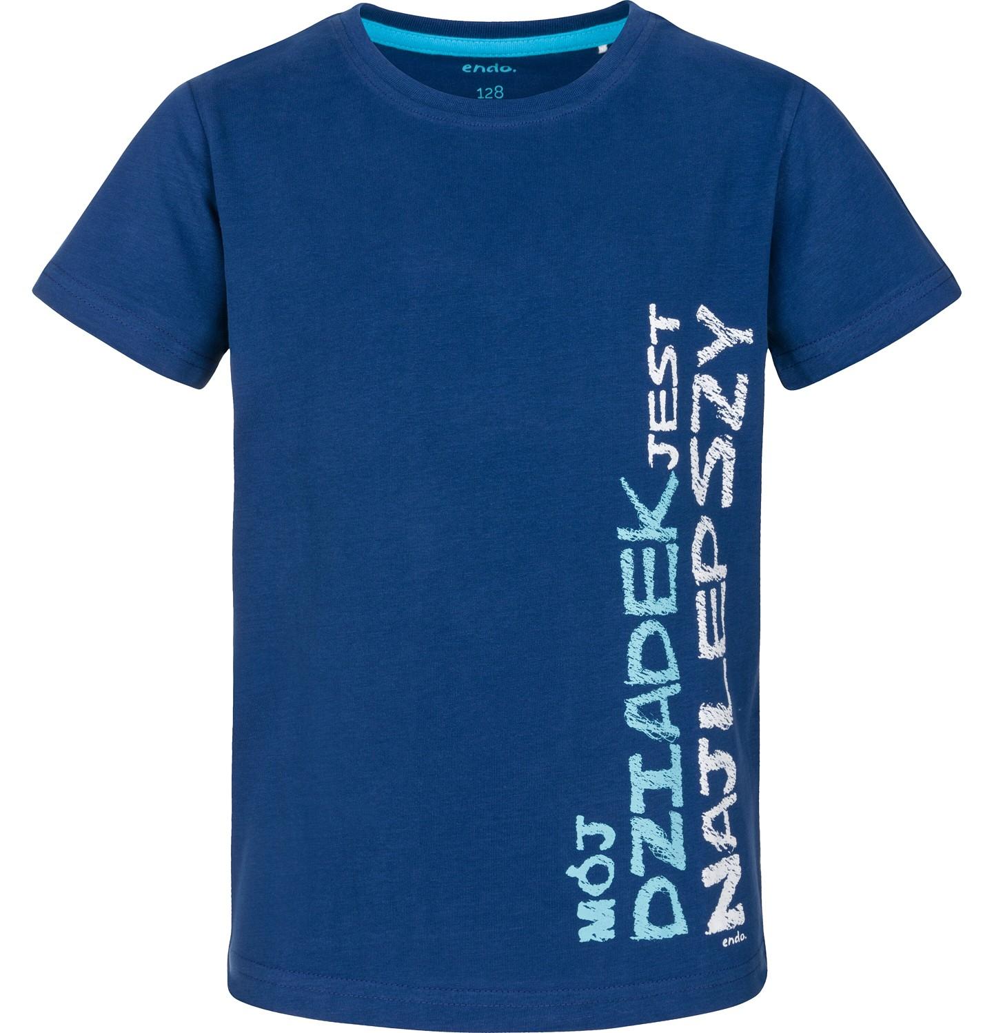 Endo - T-shirt z krótkim rękawem dla chłopca 9-13 lat C91G681_1