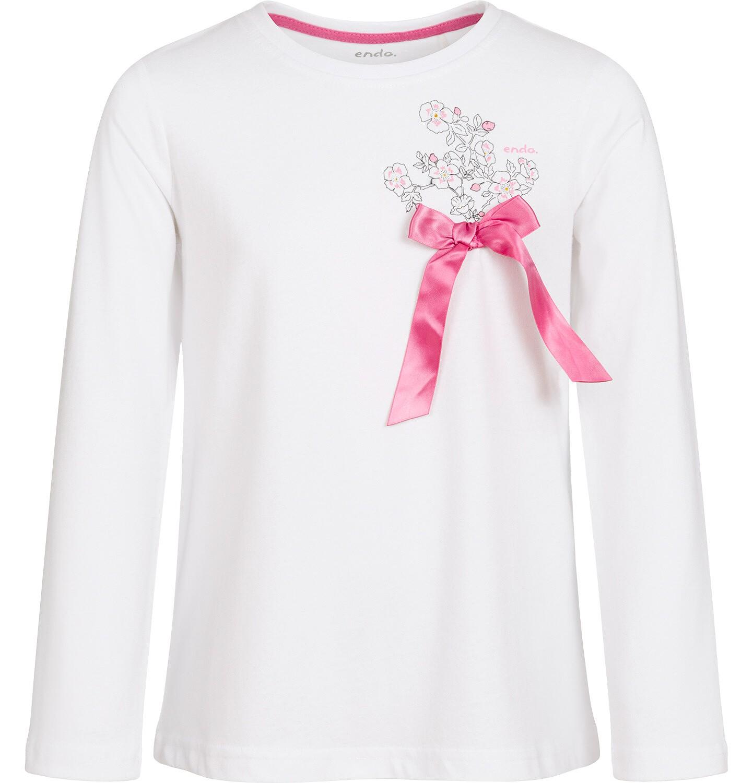 Endo - Bluzka z długim rękawem dla dziewczynki 9-13 lat D92G508_1